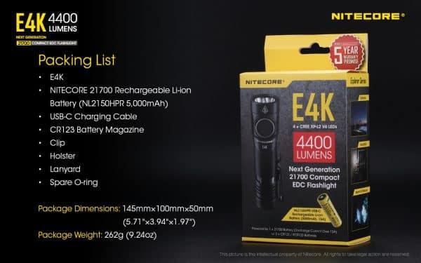 E4K NITECORE