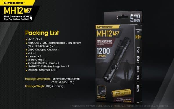 MH12V2 NITECORE